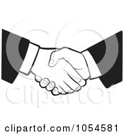 Royalty Free Vector Clip Art Illustration Of A Black And White Business Handshake