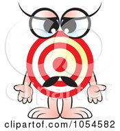 Royalty Free Vector Clip Art Illustration Of A Target Character by Lal Perera