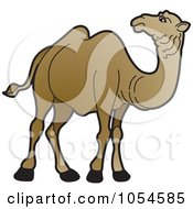 Royalty Free Vector Clip Art Illustration Of A Brown Camel 2 by Lal Perera
