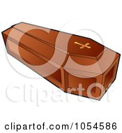 Royalty Free Vector Clip Art Illustration Of A Wooden Coffin by Lal Perera