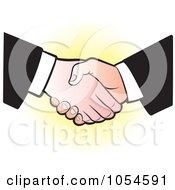 Royalty Free Vector Clip Art Illustration Of A Business Handshake 3