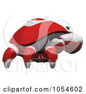 Royalty Free Rendered Clip Art Illustration Of A Side View Of A 3d Red Crab