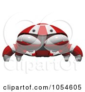 Royalty Free Rendered Clip Art Illustration Of A 3d Red Crab by Leo Blanchette
