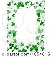 Royalty Free Vector Clip Art Illustration Of A St Patricks Day Shamrock Background With Copyspace 4