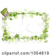 Royalty Free Vector Clip Art Illustration Of A St Patricks Day Shamrock Background With Copyspace 6 by BNP Design Studio