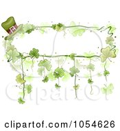 Royalty Free Vector Clip Art Illustration Of A St Patricks Day Shamrock Background With Copyspace 7