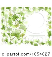 Royalty Free Vector Clip Art Illustration Of A St Patricks Day Shamrock Background With Copyspace 1