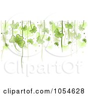 Royalty Free Vector Clip Art Illustration Of A St Patricks Day Shamrock Background With Copyspace 2