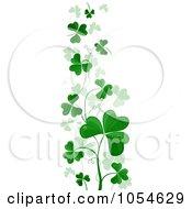 Royalty Free Vector Clip Art Illustration Of A Border Of Green Shamrocks