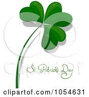 Royalty Free Vector Clip Art Illustration Of A Clover And St Patricks Day Text