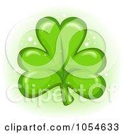 Royalty Free Vector Clip Art Illustration Of A Cartoon Green Clover