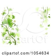Royalty Free Vector Clip Art Illustration Of A St Patricks Day Shamrock Background With Copyspace 3