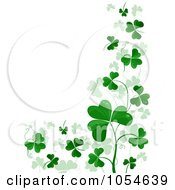 Royalty Free Vector Clip Art Illustration Of A St Patricks Day Shamrock Background With Copyspace 5