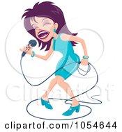 Purple Haired Female Singer