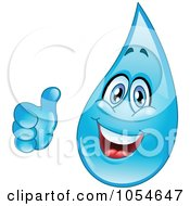 Royalty Free Vector Clip Art Illustration Of A Waterdrop Character Giving A Thumbs Up by yayayoyo