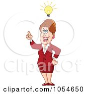 Royalty Free Vector Clip Art Illustration Of A Caucasian Businesswoman With An Idea by yayayoyo