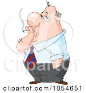 Royalty Free Vector Clip Art Illustration Of A Businessman Smoking by yayayoyo
