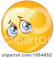 Royalty Free Vector Clip Art Illustration Of A Sad Emoticon Pouting