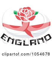 Royalty Free Vector Clip Art Illustration Of An England Rugby Ball 1