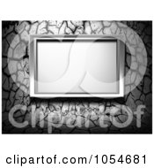 Royalty Free Clip Art Illustration Of A Grungy Gray Wall And A Metal Frame by chrisroll