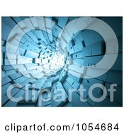 Royalty Free Clip Art Illustration Of A 3d Blue Time Tunnel by chrisroll