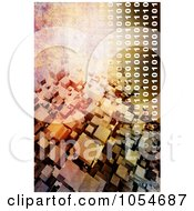 Royalty Free Clip Art Illustration Of A Background Of Binary Cubes And Rust