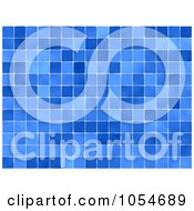 Royalty Free Clip Art Illustration Of A Background Of Bllue Tiles by chrisroll