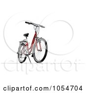 Royalty Free Clip Art Illustration Of A 3D Mountain Bike