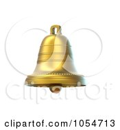Royalty Free Clip Art Illustration Of A 3d Golden Bell by chrisroll