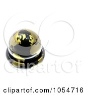 3d Gold And Black Globe