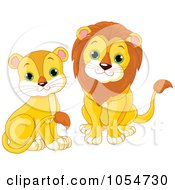 Digital Collage Of Cute Baby Lions