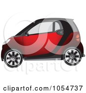 Tiny Compact Red Car