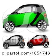 Digital Collage Of Tiny Compact Cars