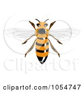 Royalty Free Vector Clip Art Illustration Of A Furry Bee by vectorace #COLLC1054747-0166