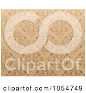 Royalty Free Vector Clip Art Illustration Of A Horizontal Ornate Seamless Tan Background by vectorace