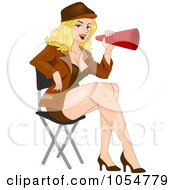 Royalty Free Vector Clip Art Illustration Of A Sexy Female Director Pinup