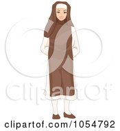 Royalty Free Vector Clip Art Illustration Of A Friendly Nun by BNP Design Studio