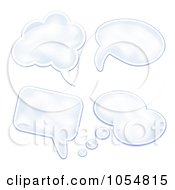 Royalty Free Vector Clip Art Illustration Of A Digital Collage Of Thought Cloud Balloons by vectorace