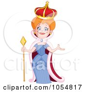 Royalty Free Vector Clip Art Illustration Of A Beautiful Queen by yayayoyo #COLLC1054817-0157