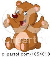 Royalty Free Vector Clip Art Illustration Of A Cute Bear Holding Out His Arms