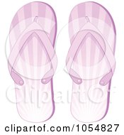 Royalty Free Vector Clip Art Illustration Of A Pair Of Purple Ray Flip Flops by elaineitalia