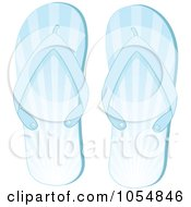 Royalty Free Vector Clip Art Illustration Of A Pair Of Blue Ray Flip Flops by elaineitalia