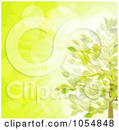 Royalty Free Vector Clip Art Illustration Of Bubbled Light Behind A Summer Tree On Green