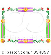 Colorful Vine And Heart Frame