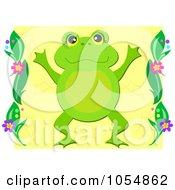 Frog Over Yellow