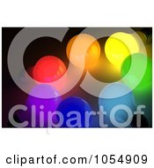 Royalty Free Clip Art Illustration Of A 3d Circle Of Colorful Light Bulbs by stockillustrations