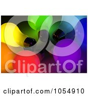Royalty Free Clip Art Illustration Of 3d Colorful Lightbulbs In A Circle by stockillustrations