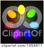 Royalty Free Clip Art Illustration Of 3d Colorful Light Bulbs In A Circle by stockillustrations