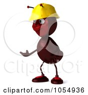 Royalty Free CGI Clipart Illustration Of A 3d Worker Ant Shrugging by Julos