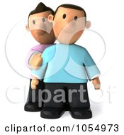 Royalty Free CGI Clip Art Illustration Of A 3d Gay Couple Pouting by Julos